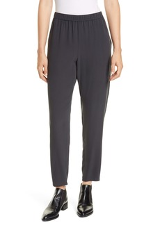 Eileen Fisher Slouchy Silk Ankle Pants (Regular & Petite)
