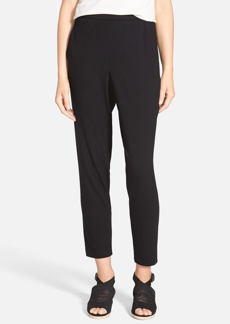 Eileen Fisher Slouchy Slim Jersey Ankle Pants (Regular & Petite)