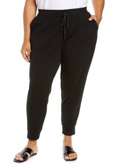Eileen Fisher Slouchy Stretch Organic Cotton Ankle Joggers (Plus Size)