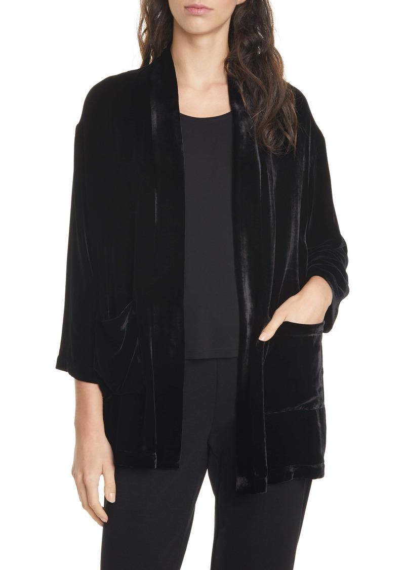 Eileen Fisher Slouchy Velvet Jacket (Regular & Petite)