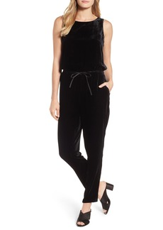 Eileen Fisher Slouchy Velvet Jumpsuit (Regular & Petite)