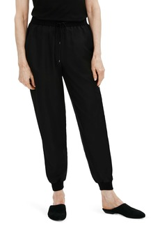 Eileen Fisher Smooth Silk Slouchy Ankle Pants