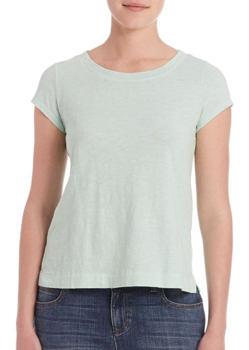 Eileen Fisher Solid Organic Cotton Tee