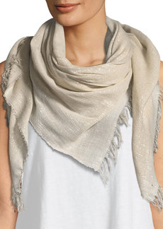 Eileen Fisher Sparkle Cotton-Blend Wrap Scarf