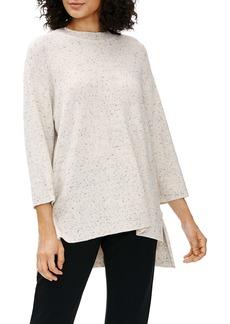 Eileen Fisher Speckle Organic Cotton Crewneck Tunic