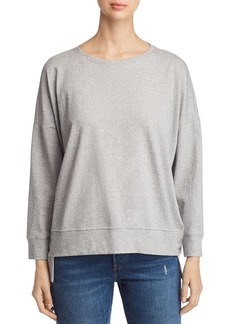 Eileen Fisher Speckled Knit Step Hem Sweatshirt