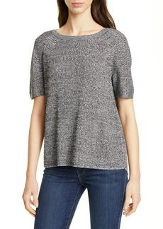 Eileen Fisher Split Back Hemp Blend Sweater