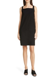 Eileen Fisher Square Neck Jersey Dress