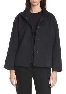Eileen Fisher Stand Collar Boxy Coat