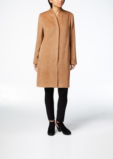 Eileen Fisher Alpaca Blend Stand-Collar Coat