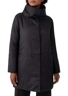 Eileen Fisher Stand Collar Cocoon Coat