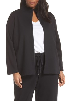 Eileen Fisher Stand Collar Jacket (Plus Size)