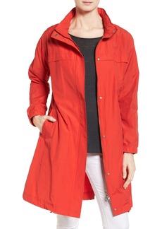 Eileen Fisher Stand Collar Long Jacket (Regular & Petite)