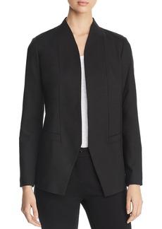 Eileen Fisher Stand-Collar Open Blazer