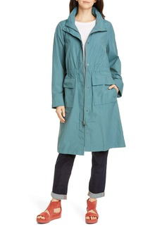 Eileen Fisher Stand Collar Organic Cotton Blend Coat