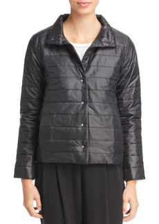 Eileen Fisher Stand Collar Puffer Jacket