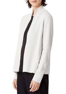 Eileen Fisher Stand Collar Silk & Cotton Jacket