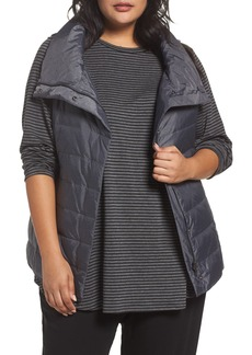 Eileen Fisher Stand Collar Vest (Plus Size)