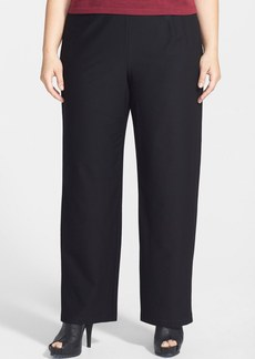 Eileen Fisher Straight Leg Crepe Pants (Plus Size)
