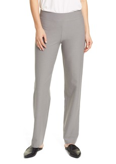 Eileen Fisher Straight Leg Crepe Pants (Regular & Petite)