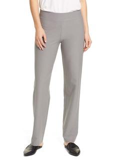 Eileen Fisher Straight Leg Crepe Pants (Regular & Petite)