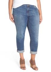 Eileen Fisher Straight Leg Crop Jeans (Plus Size)