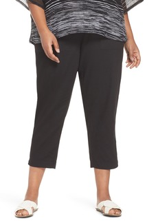Eileen Fisher Straight Leg Organic Cotton Pants (Plus Size)