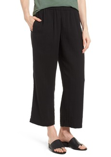 Eileen Fisher Straight Leg Organic Cotton Pants (Regular & Petite)