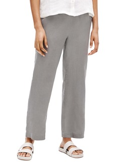 Eileen Fisher Straight Leg Organic Linen Ankle Pants (Regular & Petite)