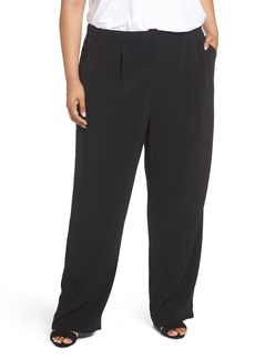Eileen Fisher Straight Leg Trousers (Plus Size)
