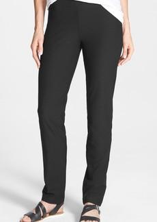 Eileen Fisher Straight Yoke Slim Crepe Knit Pants (Regular & Petite)