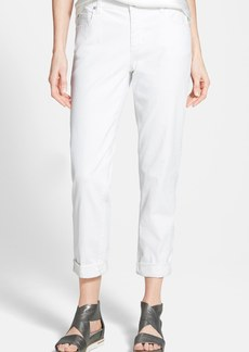 Eileen Fisher Stretch Boyfriend Jeans (White) (Regular & Petite)