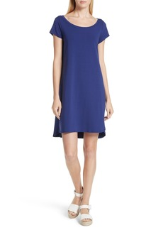 Eileen Fisher Stretch Cotton Shift Dress (Regular & Petite)