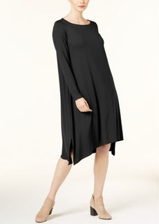 Eileen Fisher Stretch Jersey Boat-Neck Shift Dress