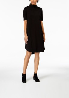 Eileen Fisher Stretch Jersey Mock-Neck A-Line Dress, Regular & Petite