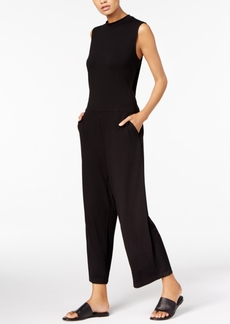 Eileen Fisher Stretch Jersey Mock-Neck Cropped Jumpsuit