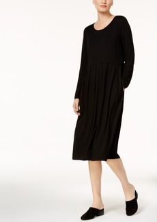 Eileen Fisher Stretch Jersey Pleated Dress