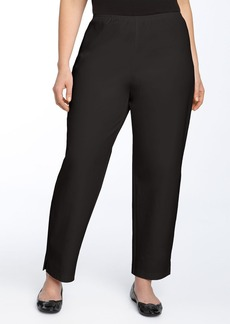 Eileen Fisher Stretch Organic Cotton Ankle Pants (Plus Size)
