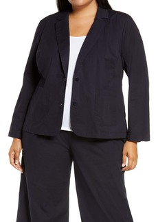 Eileen Fisher Stretch Organic Cotton Blazer (Plus Size)