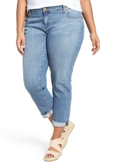 Eileen Fisher Stretch Organic Cotton Crop Boyfriend Jeans (Sky Blue) (Plus Size)