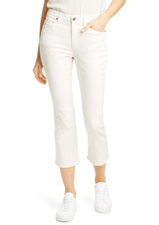 Eileen Fisher Stretch Organic Cotton Crop Flare Jeans (Undyed Natural)