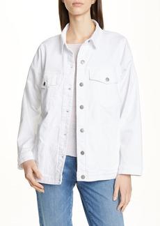 Eileen Fisher Stretch Organic Cotton Denim Jacket