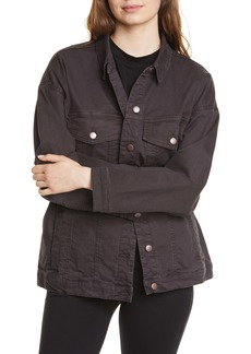 Eileen Fisher Stretch Organic Cotton Denim Jacket