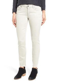 Eileen Fisher Stretch Organic Cotton Frayed Ankle Jeans