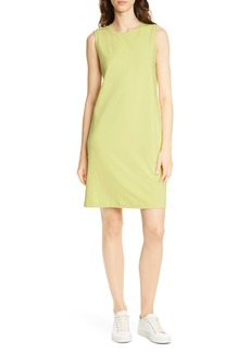 Eileen Fisher Stretch Organic Cotton Knee Length Tank Dress (Regular & Petite)