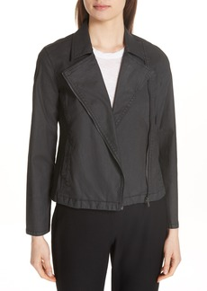 Eileen Fisher Stretch Organic Cotton Short Jacket (Regular & Petite)