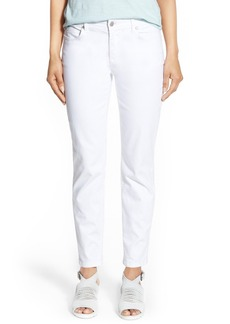 Eileen Fisher Stretch Organic Cotton Skinny Jeans (White) (Plus Size)