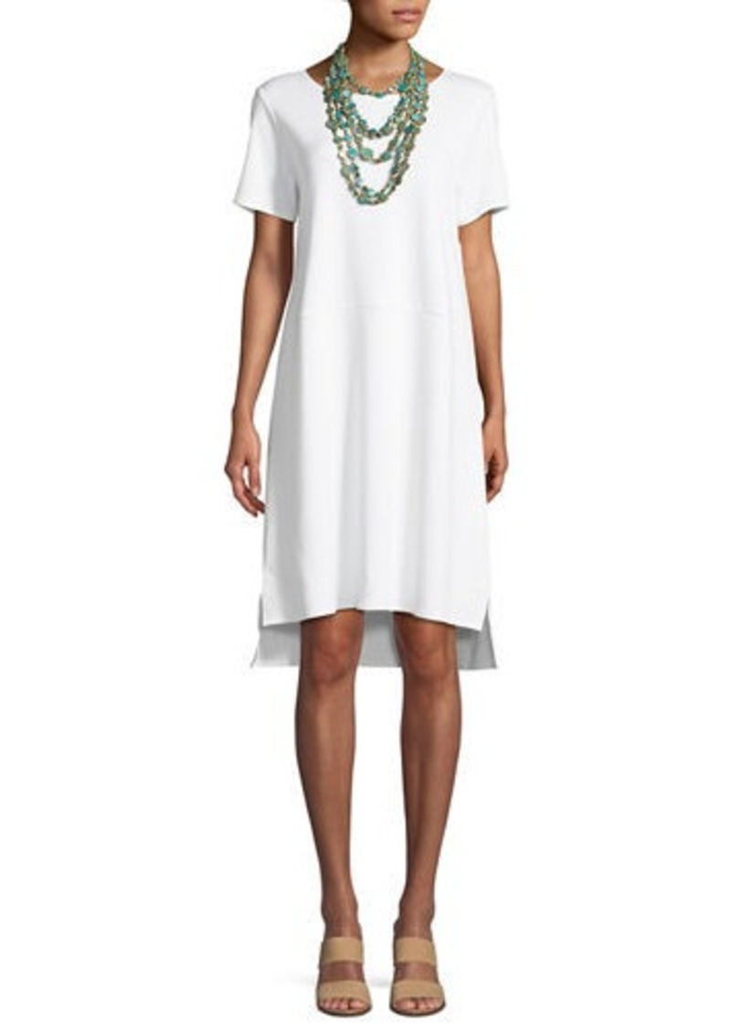Eileen Fisher Stretch Ponte Short-Sleeve Dress