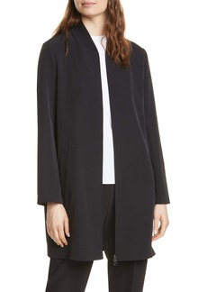 Eileen Fisher Stretch Recycled Polyester Long Flight Jacket