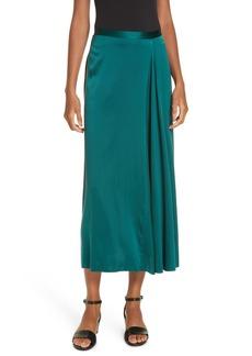 Eileen Fisher Stretch Silk Midi Skirt (Regular & Petite)